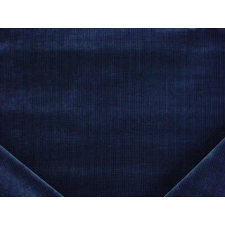 Mid-Century Modern Robert Allen Beacon Hill Leyritz Azure Velvet Upholstery Fabric - 3-7/8y For Sale