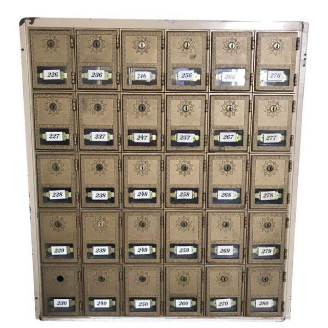 Art Deco Antique Art Deco Salvage Post Office Box For Sale - Image 3 of 7