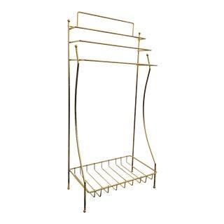 Vintage Brass Towel Rack or Clothing Rack For Sale