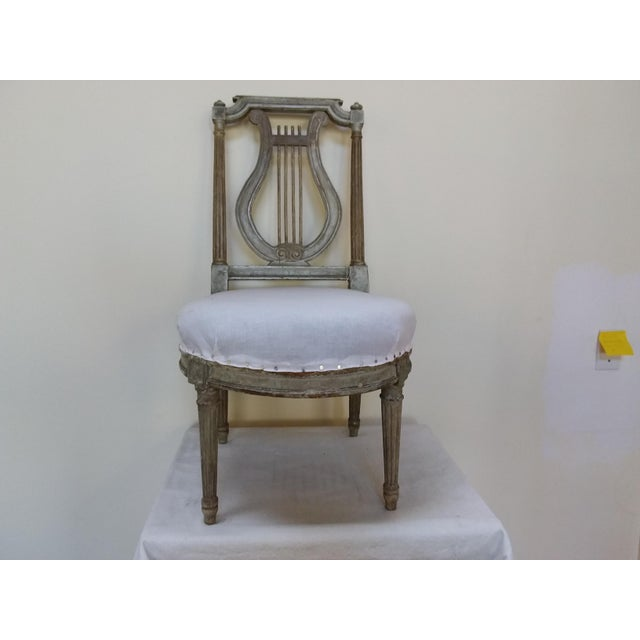 Antique French Slipper Chair For Sale In San Francisco - Image 6 of 6