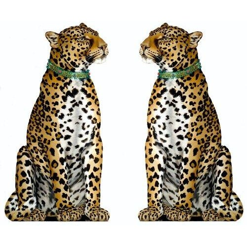 Pair of Leopards, Free-Standing Decorative Objects For Sale - Image 4 of 4