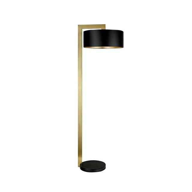 Chicago Lamp in Black Bronze With English Brass For Sale - Image 4 of 4