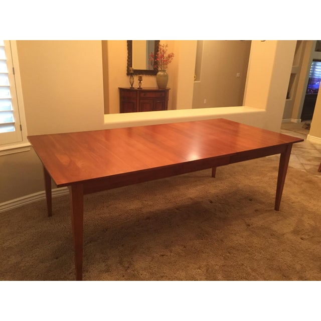 Ethan Allen Ethan Allen New Impressions Dining Table With 2 Leaves For Sale - Image 4 of 11