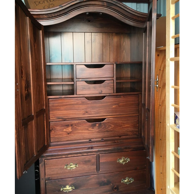 Ethan Allen Mahogany Armoire - Image 3 of 11