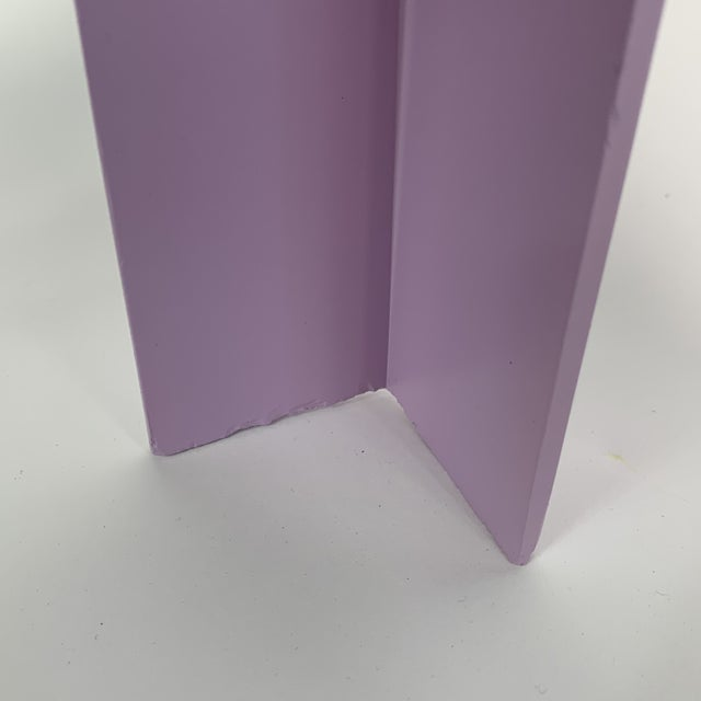 Memphis Inspired Pastel Parson Style Side Table For Sale - Image 9 of 10
