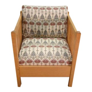 Stickley Mission Oak Arts and Crafts Cube Chair For Sale