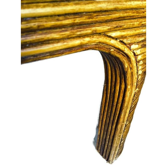 Vintage Split Reed Bamboo Coffee Table - Image 7 of 8