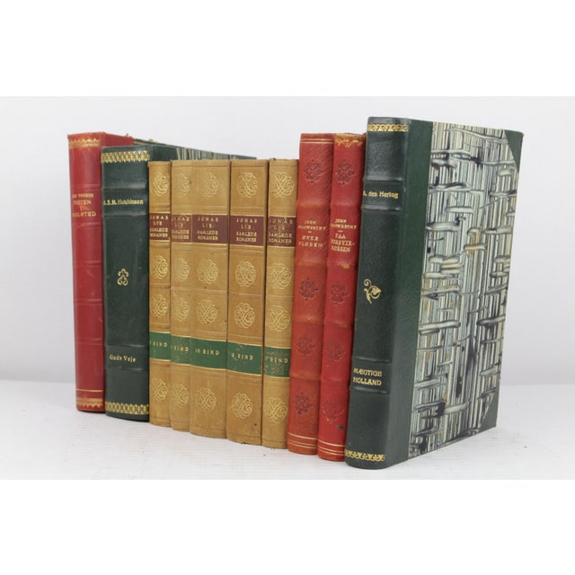 Art Deco Leather-Bound Books - Set of 10 - Image 3 of 4