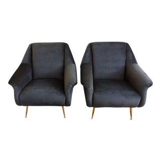 Italian Modern Armchairs - A Pair