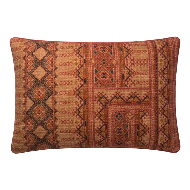 "Justina Blakeney X Loloi Rust 16"" X 26"" Cover with Down Pillow For Sale"