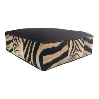 Forsyth Loro Piana Alpaca and Virgin Wool and Zebra Hide Floor Pillow For Sale
