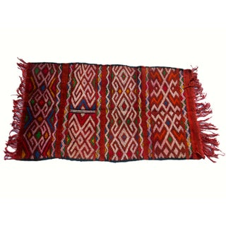 "Moroccan Berber Tribal Kilim Rug - 2' 7"" x 4' 10"" For Sale"