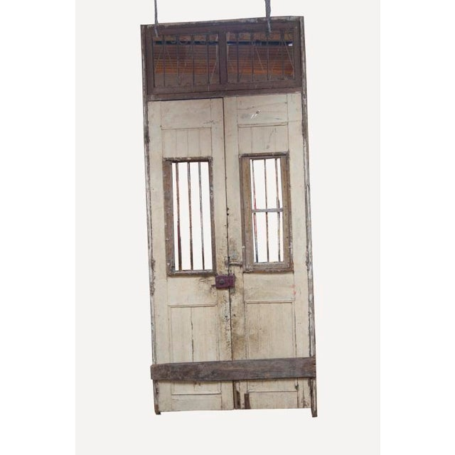 1800's French Ornate wooden double doors