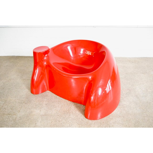 Mid-Century Modern Mid Century Wendell Castle Red Fiberglass Lounge Chair For Sale - Image 3 of 11
