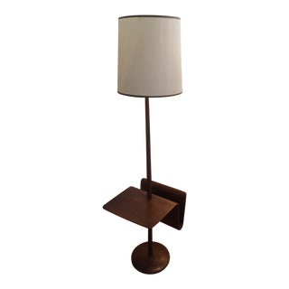 1960s Mid-Century Modern Laurel Lamp Company Floor Lamp/Floating Table With Magazine Rack