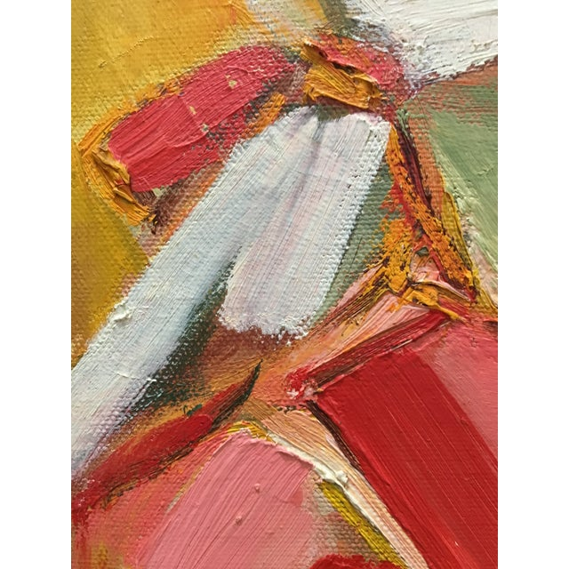 Abstract Vintage Mid Century Cubist Abstract Oil Painting Portrait For Sale - Image 3 of 13
