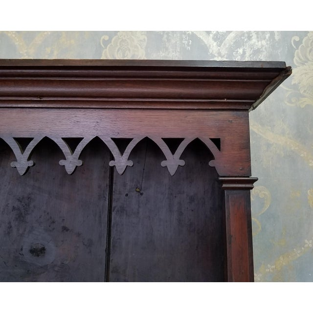19th Century Antique Oak Inlaid Welsh/Jacobean Style Dining Room Hallway Cabinet Cupboard Hutch For Sale In New York - Image 6 of 11