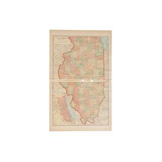 Cram's 1907 Map of Illinois