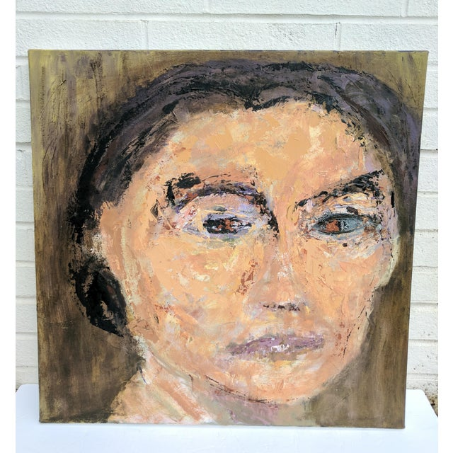 Impressionist Oil Portrait Painting of Woman For Sale - Image 4 of 11