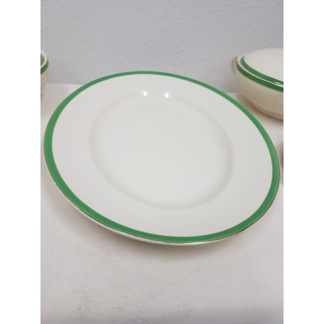 White Antique Wedgwood Art Deco Serving Platters and Bowls - Found in Devon For Sale - Image 8 of 12