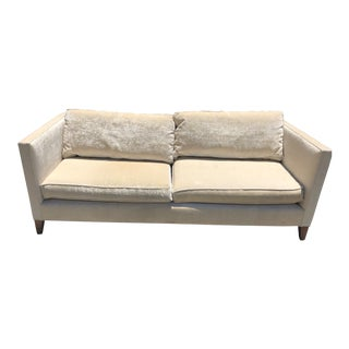 Mitchell Gold Velvet Sofa For Sale