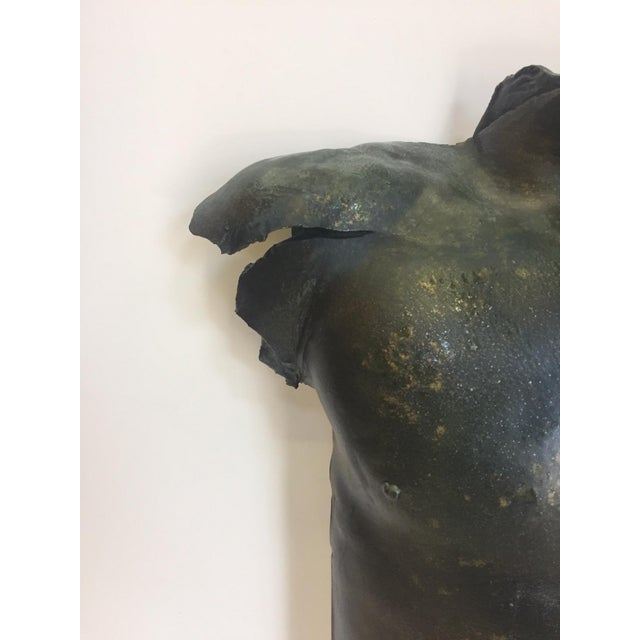 Plaster Wall Sconce of Sexy Male Torso For Sale - Image 7 of 10
