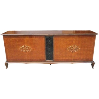 1940s Jules Leleu French Art Deco Mother of Pearl Inlay Sideboard / Buffet For Sale