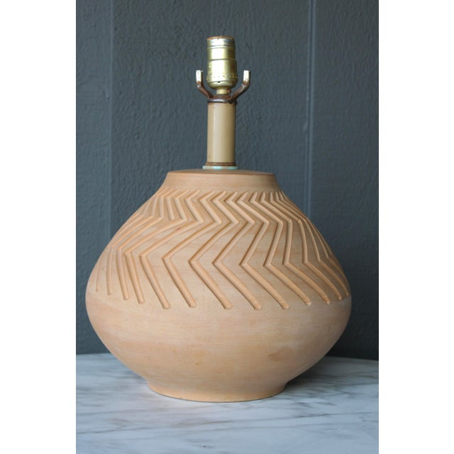 Native American Art Pottery Lamp - Image 5 of 11