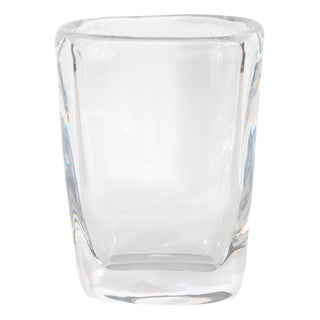 Mid-Century Modern Oblong Translucent Glass Vase by Orrefors of Sweden For Sale