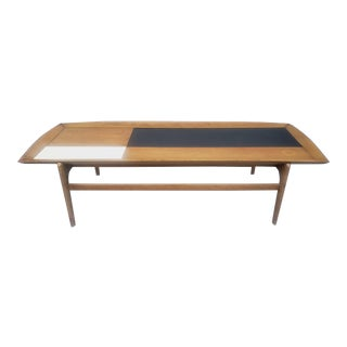 Vintage John Keal for Brown-Saltman Black and White Laminate Checkerboard Coffee Table For Sale