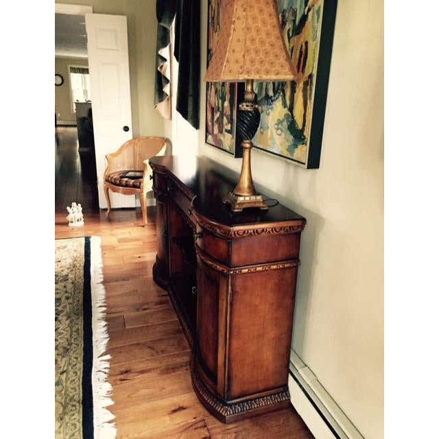 Century Furniture Rounded Cabinet Console - Image 4 of 4