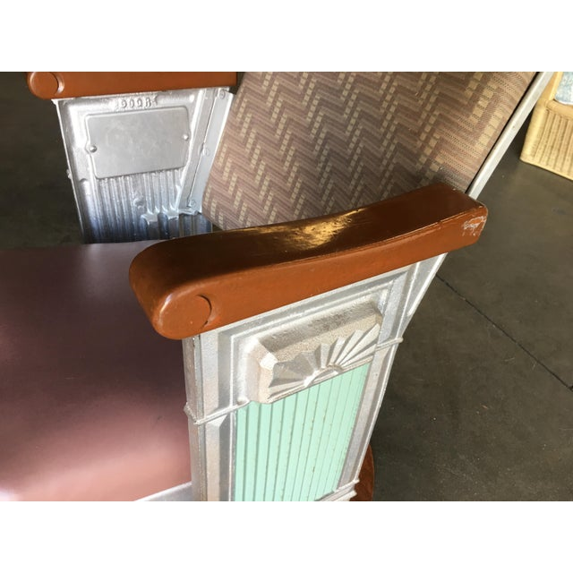 Grand Hollywood Art Deco Movie Theater Chair For Sale In Los Angeles - Image 6 of 8