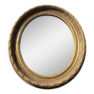 Mid 20th Century Vintage LaBarge Plaster Oval Mirror For Sale