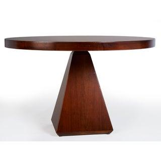 1960s Vintage Vittorio Introini for Saporiti Italian Geometric Walnut Dining Table Preview