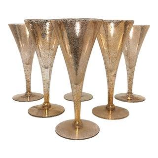 Dorothy Thorpe Gold Fleck Cocktail Glasses - Set of 6