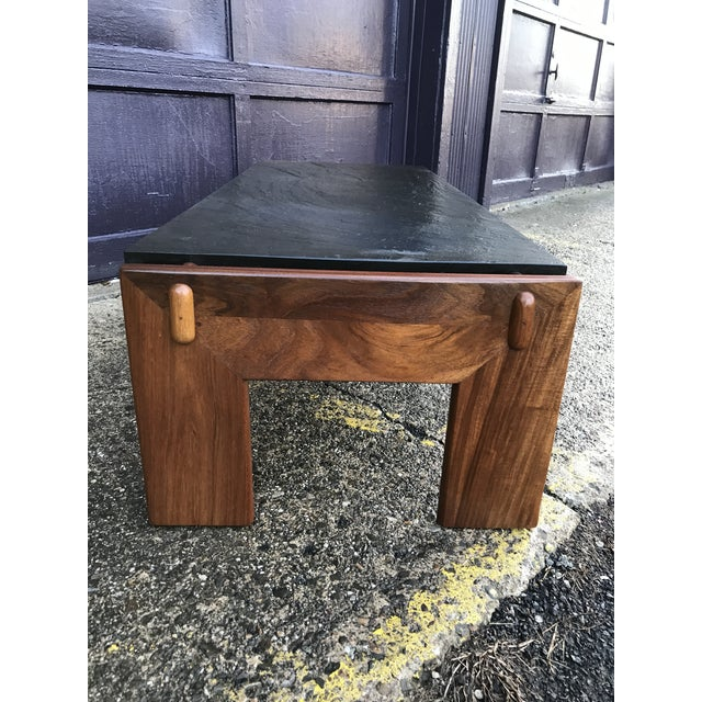 Restored! Adrian Pearsall for Craft Associates walnut coffee table. Walnut base has been professionally restored and is in...