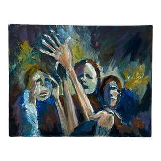 Figurative Study of 3 People, Mid Century For Sale