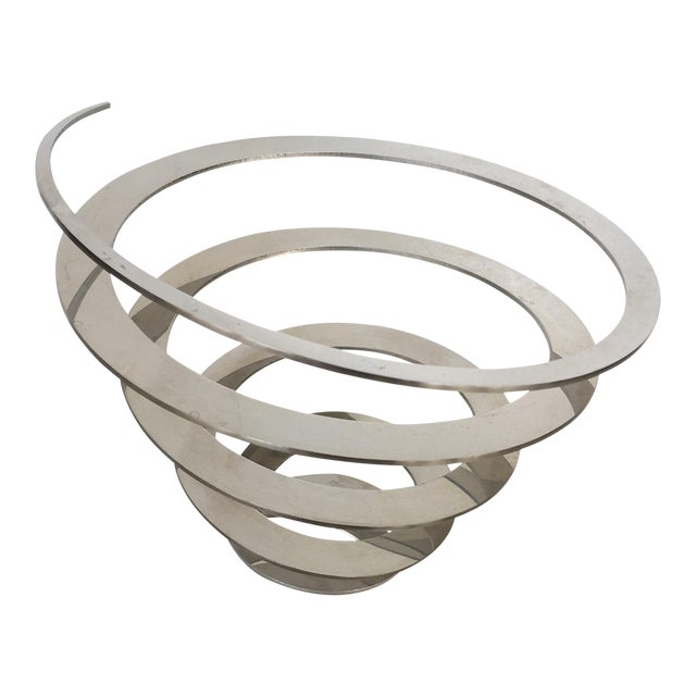 Danish Modern Steel Swirl Fruit Bowl / Centerpiece - Image 1 of 6