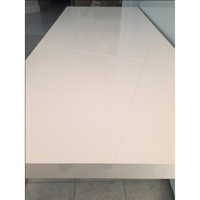 Modern White Lacquer Table - Image 4 of 6