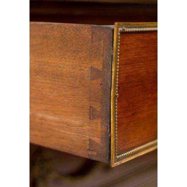 Louis XVI Style Walnut Bookcase Commode - Image 4 of 8