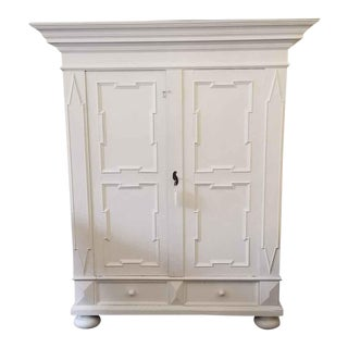 Late 19th Century Antique Restored White Armoire For Sale