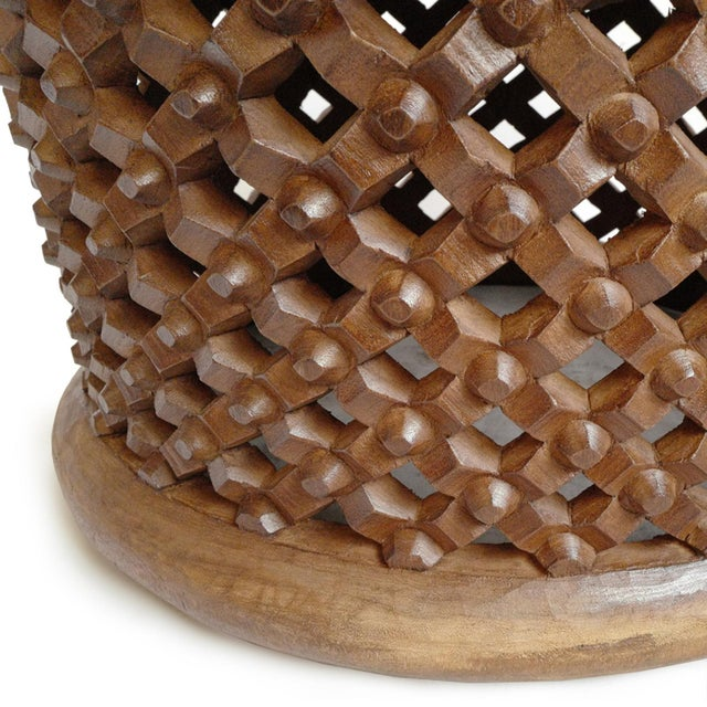 Bamileke Wood Stool Table For Sale - Image 4 of 5