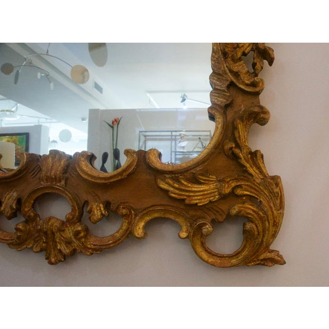 Chippendale La Barge Chippendale Rococo Style Carved Wood Wall Mirror For Sale - Image 3 of 6