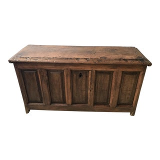 18th Century Rustic Mortise and Tenon Box For Sale