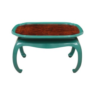Chin Hua Style Emerald Coffee Table For Sale