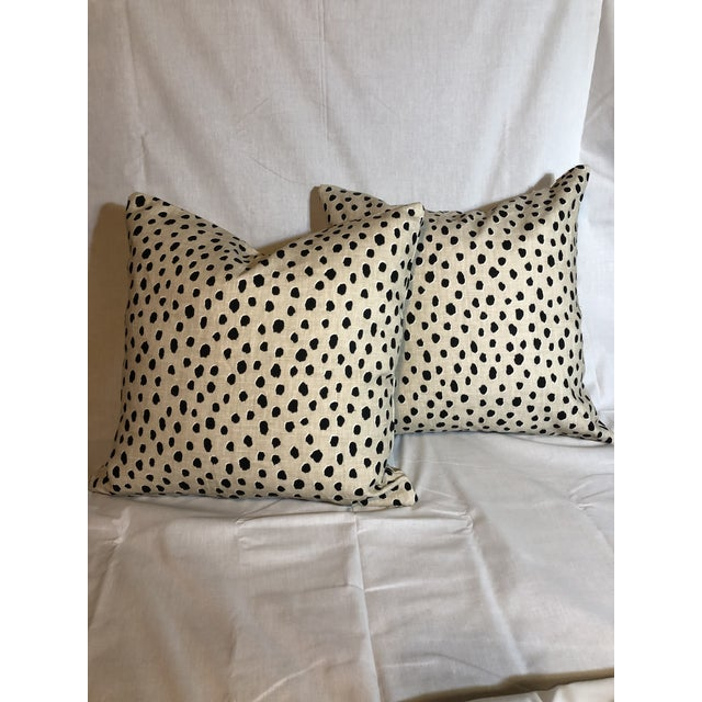 Kravet Kate Spade Kravet Fauna Down Filled Pillows - A Pair For Sale - Image 4 of 4