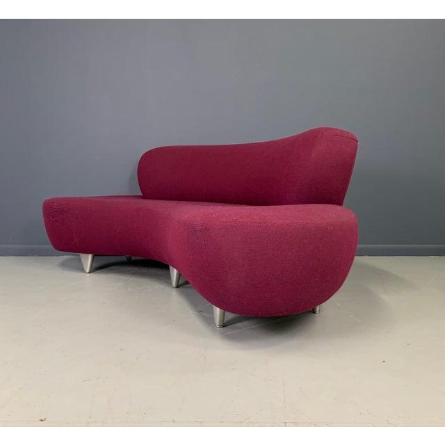 Burgundy 1970s Vladimir Kagan Sofa for Modernica For Sale - Image 8 of 13
