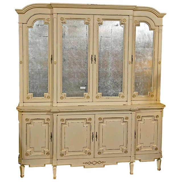 Maison Jansen Ivory Painted Bookcase - Image 1 of 10