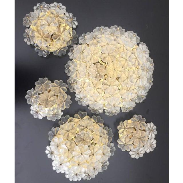 1960s Hollywood Regency Ernst Palme Floral Glass Sconce For Sale - Image 10 of 10