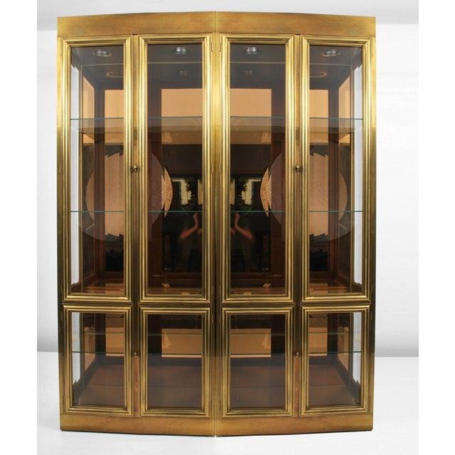 One Large Brass Mastercraft Vitrine Cabinet For Sale - Image 5 of 5